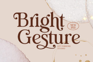 Print on Demand: Bright Gesture Serif Font By letterhend