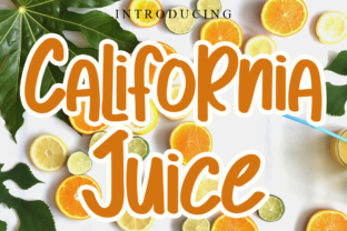 Print on Demand: California Juice Display Font By Letterpen