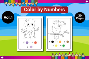 Color by Numbers Coloring Pages for Kids Graphic Coloring Pages & Books Kids By Sharif54