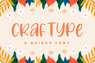 Print on Demand: Craftype Display Font By Bekeen.co