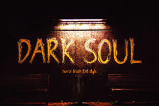 Print on Demand: Dark Soul Display Font By darully.creator