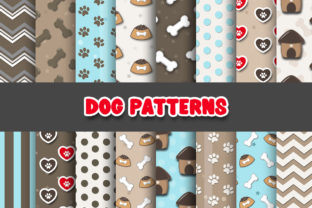 Print on Demand: Dog Digital Paper Patterns Graphic Patterns By Grafixeo