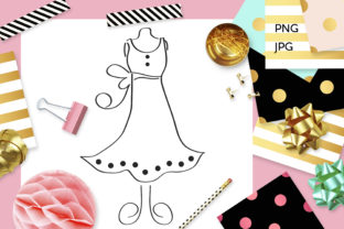 Print on Demand: Dress Mannequin Coloring Graphic Coloring Pages & Books Adults By Revidevi
