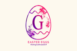Print on Demand: Easter Eggs Decorative Font By utopiabrand19