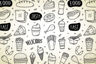 Fast Food Doodle Hand Drawn Graphic Illustrations By Freshcare