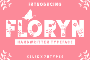 Print on Demand: Floryn Decorative Font By Kelik - 7NTypes