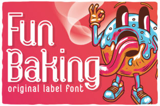 Print on Demand: Fun Baking Display Font By Vozzy Vintage Fonts And Graphics