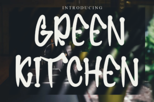 Print on Demand: Greenkitchen Display Font By Letterpen
