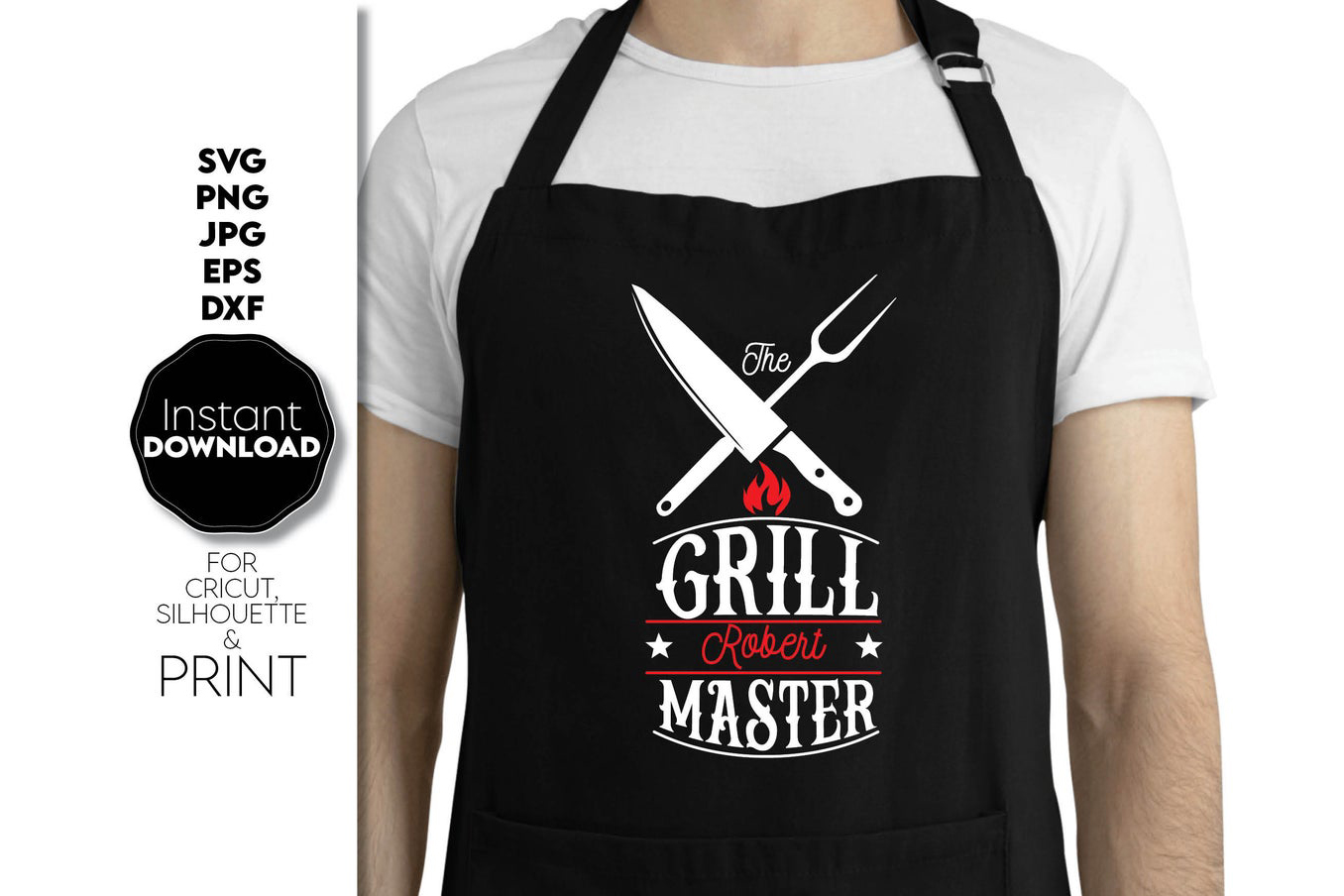 Grill Master Gift for Dad Father Day SVG File