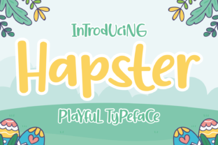 Print on Demand: Hapster Display Font By Dani (7NTypes) 1