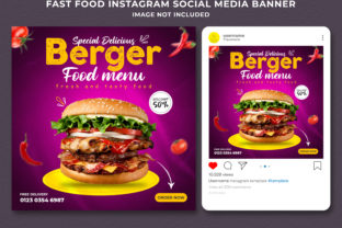 Instagram Fast Food Social Media Banner Graphic Graphic Templates By Effectmaster