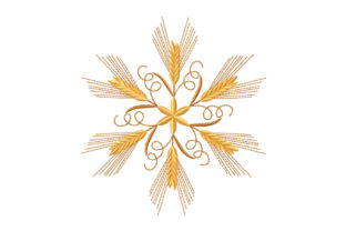 Print on Demand: Kaleidoscope of Spikelets Farm & Country Embroidery Design By EmbArt