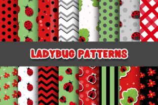 Print on Demand: Ladybug Digital Papers and Pattern Graphic Patterns By Grafixeo