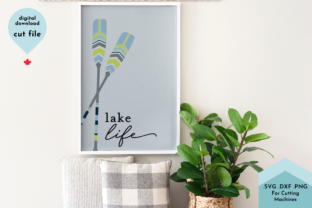 Print on Demand: Lake Life - Beach House Decor Cut File Graphic Crafts By Lettershapes