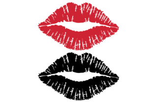Print on Demand: Lips of a Lady Vector Illustration. Graphic Icons By lemonpoo8