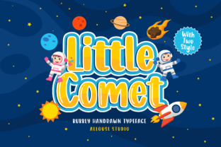 Print on Demand: Little Comet Display Font By allouse.studio