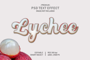 Lychee Fruit Editable 3D Text Effect Graphic Graphic Templates By Effectmaster