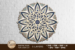 MANDALA Files for Cricut and Laser Cut Graphic Crafts By LaserCutano