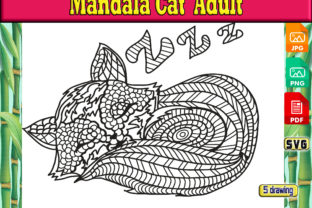 Print on Demand: Mandala Cat Adult Graphic Coloring Pages & Books Adults By kdp Edition
