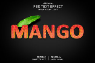 Mango Fruit Editable 3D Text Effect Graphic Graphic Templates By Effectmaster