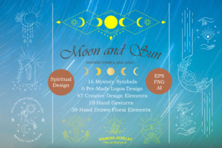 Moon and Sun Mystery Symbol and Logo Graphic Illustrations By MaxCompose