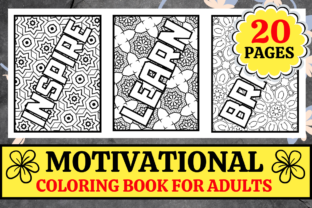 Print on Demand: Motivational Coloring Book for Adults Graphic Coloring Pages & Books Adults By KDP Mastermind