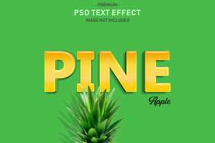 Pineapple Fruit Editable 3D Text Effect Graphic Graphic Templates By Effectmaster