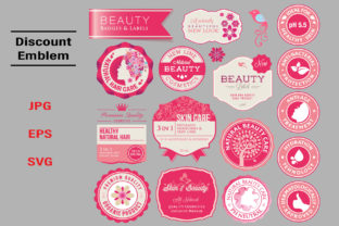 Pink Beauty Emblem Icons Graphic Icons By NineteenWorks