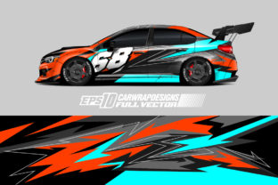 Racing Car Wrap Decal Graphic Vector Kit Graphic Backgrounds By zoulgraphic