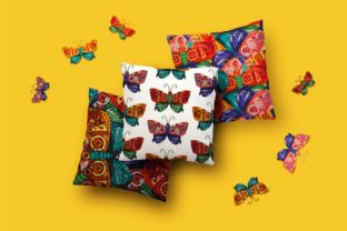 Print on Demand: Steampunk Butterfly Patterns Set Graphic Illustrations By barsrsind