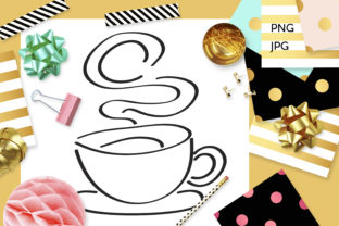 Print on Demand: Steamy Coffee Cup Coloring Graphic Coloring Pages & Books Adults By Revidevi
