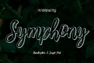 Print on Demand: Symphony Script & Handwritten Font By darully.creator