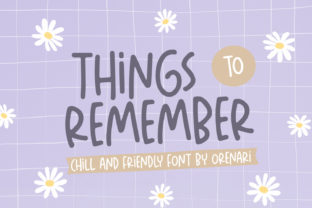 Print on Demand: Things to Remember Script & Handwritten Font By Orenari