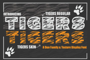 Print on Demand: Tigers Display Font By KtwoP