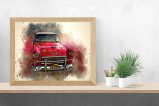 Print on Demand: Vintage Car Printables 300 Dpi Pack 24 Graphic Illustrations By The leaves river 2