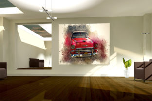 Print on Demand: Vintage Car Printables 300 Dpi Pack 24 Graphic Illustrations By The leaves river 4