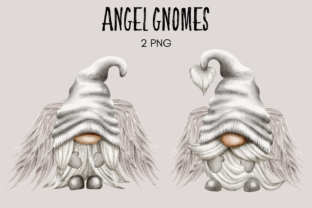 Print on Demand: Angel Gnome Clipart Graphic Illustrations By Celebrately Graphics