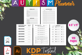 Autism Planner Workbook & Log Book Graphic KDP Interiors By GraphicTech360