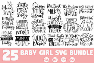 Print on Demand: Baby Girl SVG Bundle Graphic Crafts By freelingdesignhouse