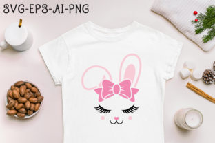 Print on Demand: Bunny Easter Svg Cricut Silhouette File Graphic Print Templates By mekibuzz