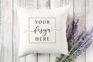 Canvas Square Pillow Mockup Farmhouse Graphic Product Mockups By SlyDesignStudio