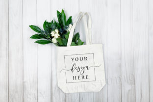 Canvas Tote Mockup Flowers Farmhouse Graphic Product Mockups By SlyDesignStudio