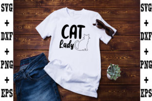 Print on Demand: Cat Lady Gráfico Crafts Por svgbundle