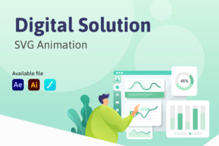 Digital Solution - SVG Animation Graphic UX and UI Kits By Bayu Febrianto