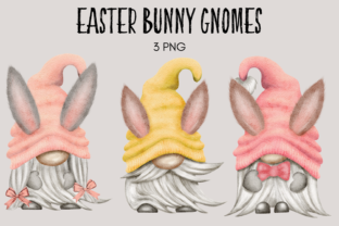 Print on Demand: Easter Bunny Ears Gnome Clipart Graphic Illustrations By Celebrately Graphics