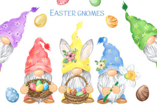 Easter Gnomes. Spring Holiday Clipart. Graphic Add-ons By EvArtPrint
