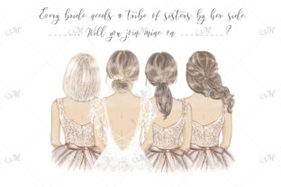 Every Bride Needs Her Tribe Illustration Graphic Illustrations By MaddyZ