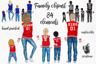 Print on Demand: Family Clipart Parents with Kids Collage Graphic Illustrations By LeCoqDesign