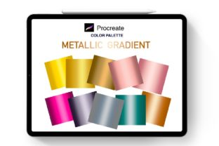 Print on Demand: Procreate Metallic Gradient Palette V2 Graphic Brushes By Richy Bunny