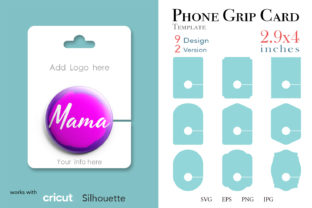 18 Phone Grip Display Card Template Graphic Print Templates By Paperboxshop